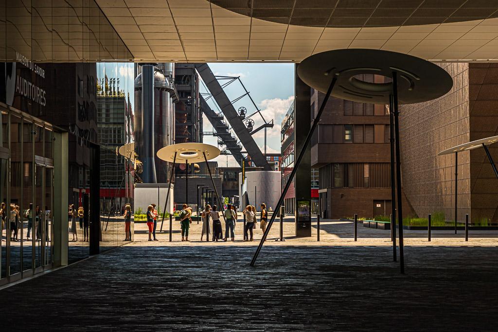Welcome to the future! Aus der ehemaligen Industriebrache Esch-Belval wurde ein kreativer Lernort und der größte Standort der Universität Luxemburg / © FrontRowSociety.net, Foto: Georg Berg